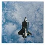 Orbiting Space Shuttle Large Square Tile