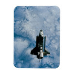 Orbiting Space Shuttle Rectangular Photo Magnet