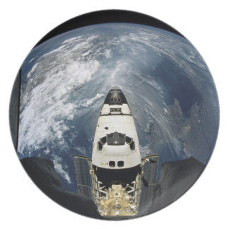 Orbiting Spacecraft Party Plate