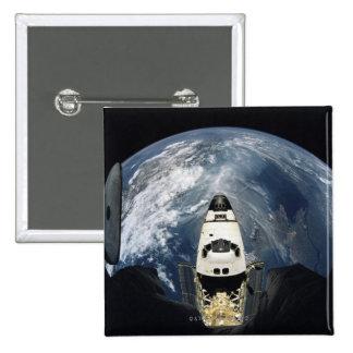 Orbiting Spacecraft Pinback Button