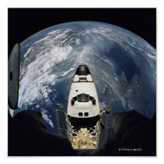 Orbiting Spacecraft Poster