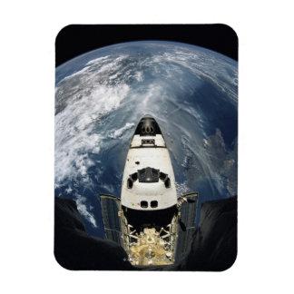 Orbiting Spacecraft Rectangular Photo Magnet