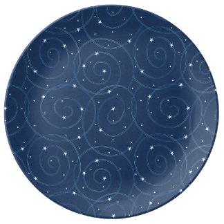 Orbiting Stars Porcelain Plate