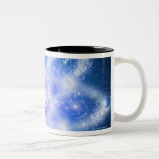 Orbits of planets Two-Tone coffee mug