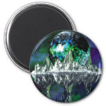 Orbs and Island Refrigerator Magnets