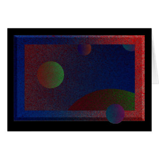 Orbs in Motion Greeting Card