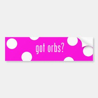 Orbs Pink Bumper Sticker Car Bumper Sticker