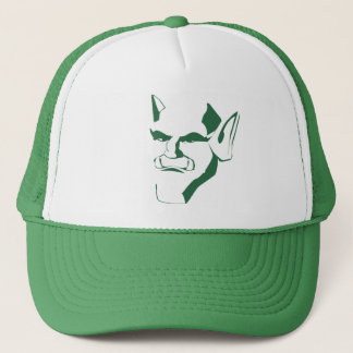 orc creature cranky face customizable trucker hat