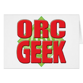 Orc Geek v2 Greeting Cards