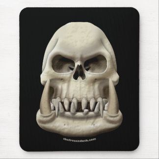 Orc Skull Mouse Pad