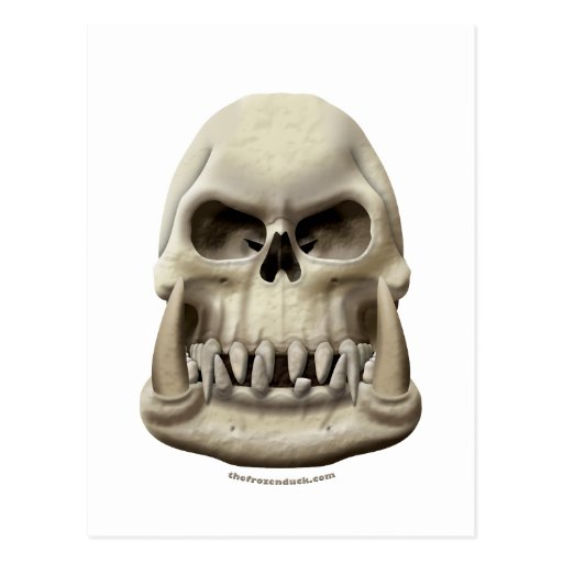 Orc Skull Post Cards