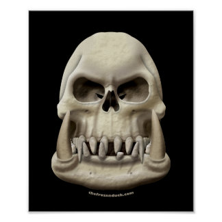 Orc Skull Poster