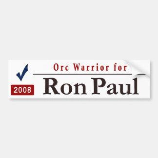 Orc Warrior for Ron Paul Car Bumper Sticker