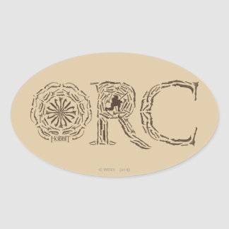 Orc Weapons Collage Oval Sticker