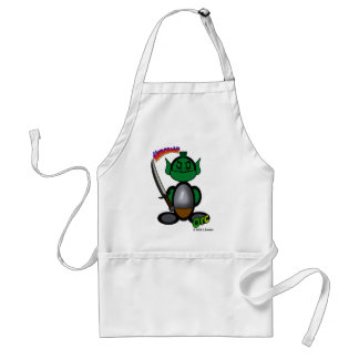 Orc (with logos) adult apron