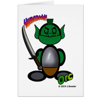 Orc (with logos) greeting card