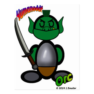 Orc (with logos) postcard
