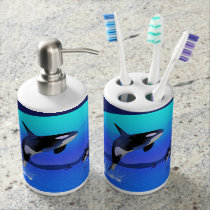 Orca 1 soap dispenser and toothbrush holder