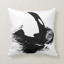 "Orca accent pillow ""killer whale"""