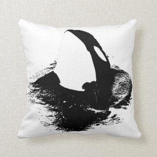 "Orca accent pillow ""killer whale"""