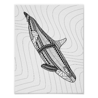 Orca Adult Coloring Poster