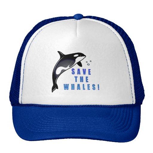 Orca: ¡Ahorre las ballenas! Gorras De Camionero