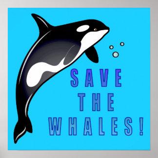 Orca: ¡Ahorre las ballenas! Póster