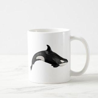 Orca aislada taza básica blanca