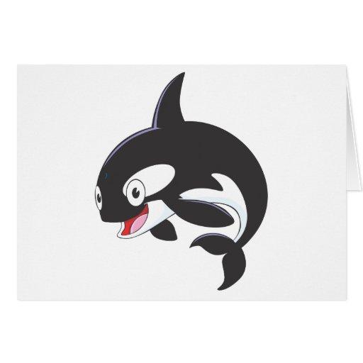 Orca alegre tarjeta de felicitación