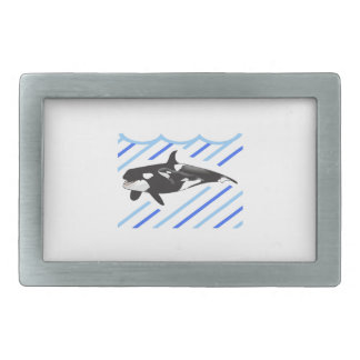 ORCA AND CALF IN WATER BELT BUCKLES
