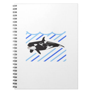 ORCA AND CALF IN WATER SPIRAL NOTE BOOK