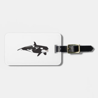 ORCA AND CALF TAG FOR LUGGAGE