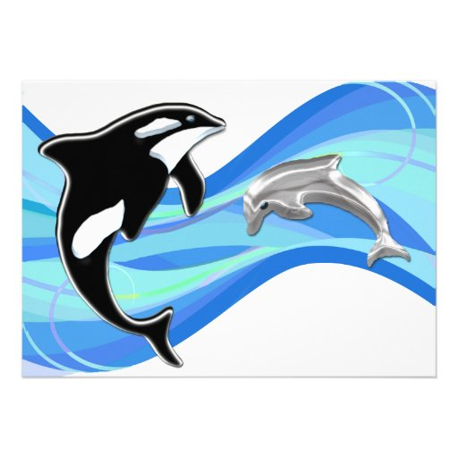 Orca and Dolphin in the Waves Custom Announcements