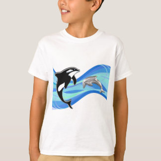 Orca and Dolphin in the Waves T-Shirt