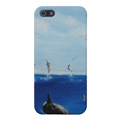 Orca and Dolphins for iPhone 4/4S iPhone 5 Covers