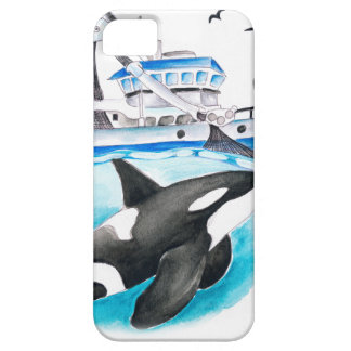 Orca And The Boat iPhone SE/5/5s Case