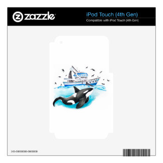 Orca And The Boat iPod Touch 4G Skin