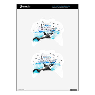 Orca And The Boat Xbox 360 Controller Decal