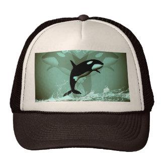 Orca asombrosa gorros bordados