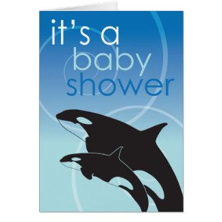 Orca Baby - Baby Shower Invitation