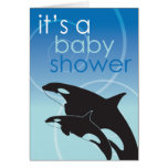 Orca Baby - Baby Shower Invitation Greeting Cards