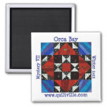 Orca Bay Mystery Quiltville 2 Inch Square Magnet