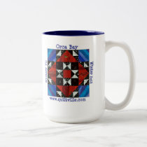 Orca Bay Mystery, Quiltville Two-Tone Coffee Mug