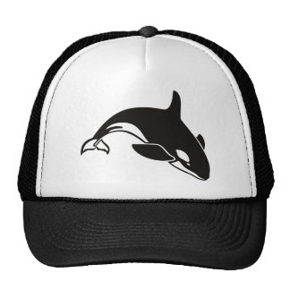 Orca blanco y negro de la orca gorro de camionero