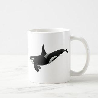 Orca blanco y negro de la orca taza de café