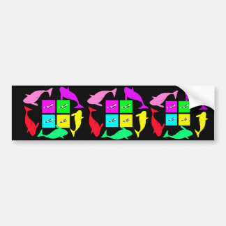 Orca Blocks In Four Colors Bumper Sticker