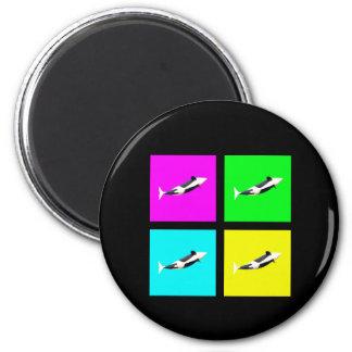 Orca Blocks In Four Colors Fridge Magnet