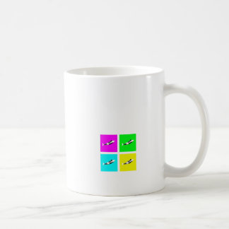 Orca Blocks In Four Colors Mugs