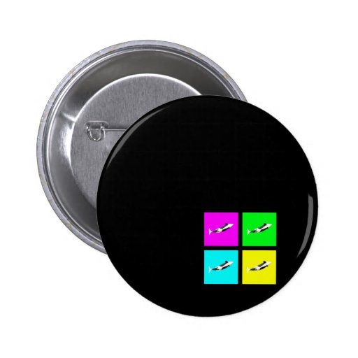 Orca Blocks In Four Colors Pinback Button
