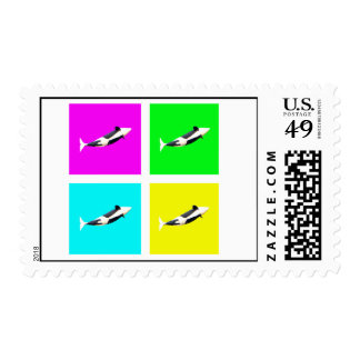 Orca Blocks in Four Colors Postage Stamps